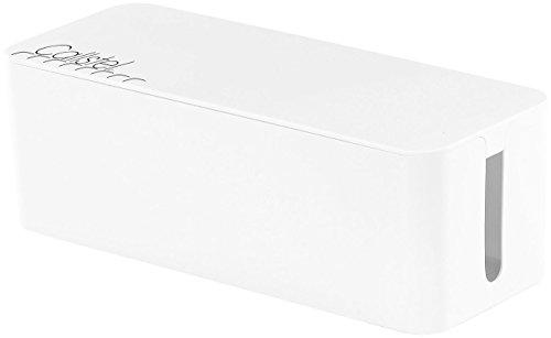 Callstel Steckdosenbox: Kabelbox groß, 40,8 x 15,8 x 13,4 cm, weiß (Kabelsammler)