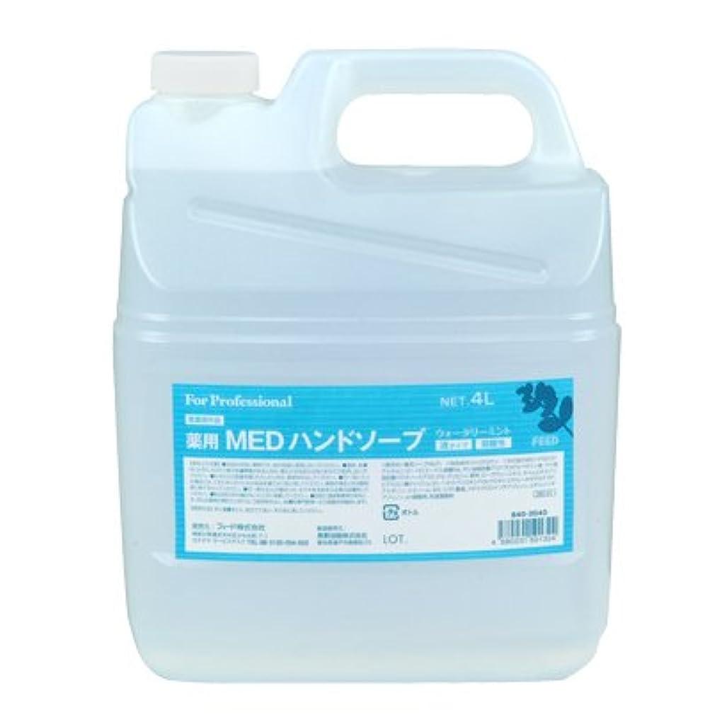 照らす個性地下室【業務用】 FEED(フィード) 薬用 MEDハンドソープ 液タイプ/4L詰替用 ハンドソープ(液タイプ) 入数 1本