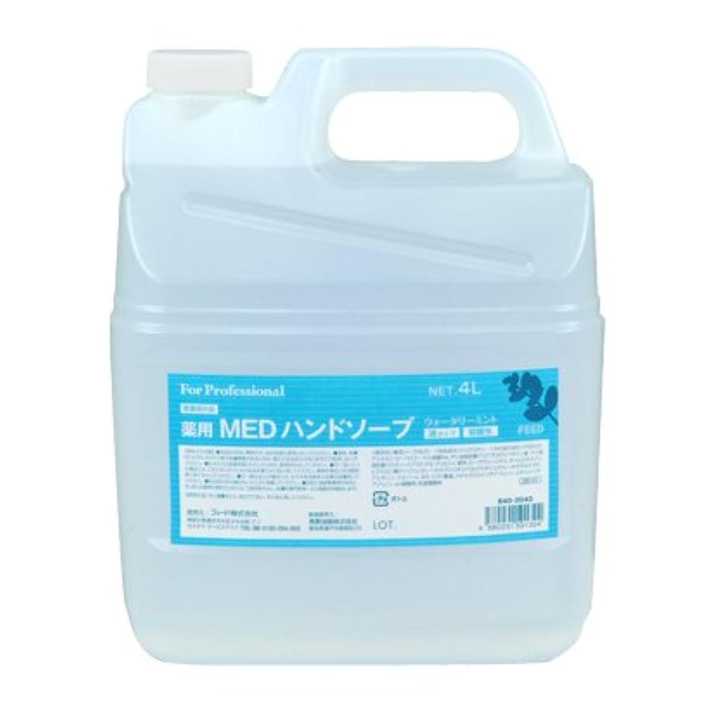 定説考える再生的【業務用】 FEED(フィード) 薬用 MEDハンドソープ 液タイプ/4L詰替用 ハンドソープ(液タイプ) 入数 1本