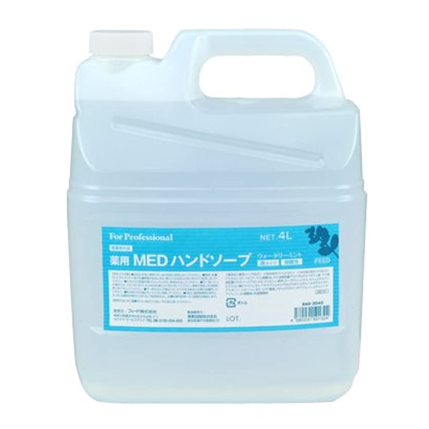 打ち負かす理論的にぎやか【業務用】 FEED(フィード) 薬用 MEDハンドソープ 液タイプ/4L詰替用 ハンドソープ(液タイプ) 入数 1本