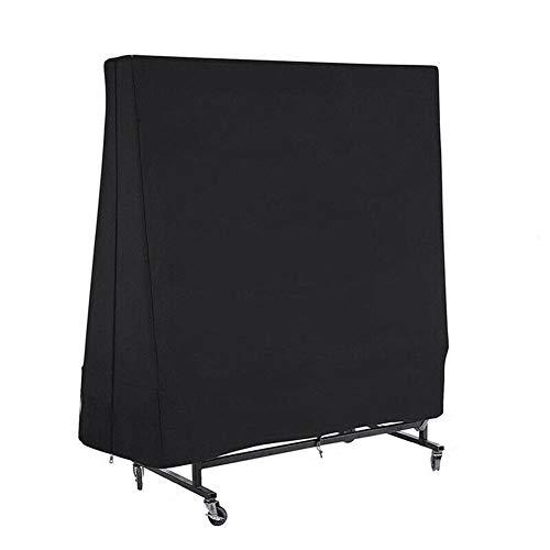 Xuxuou 1PC wasserdichte Abdeckung für Tischtennisplatte Lagerdeckel Aufbewahrungstasche für den Haushalt Länge, Breite und Höhe 36 * 85 * 160cm Oxford-Stoff Schwarz