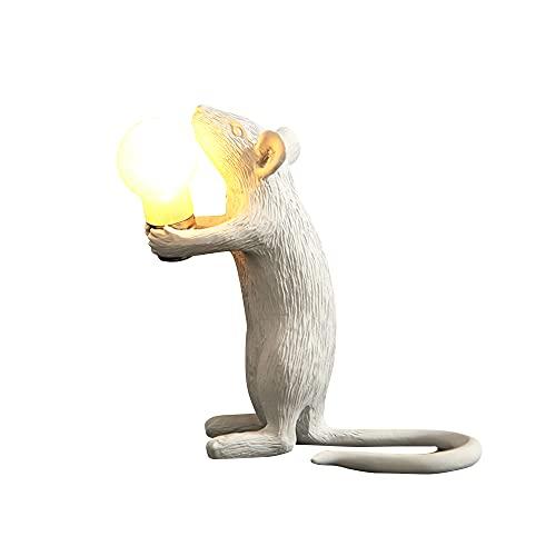 Mini ratón lámpara de mesa lámpara de escritorio lámpara de luz nocturna decorativa LED mesita de noche lámpara de escritorio para dormitorio salón oficina