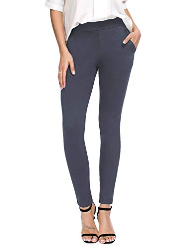 Bamans Women's Skinny Leg Work Pull on Slim...