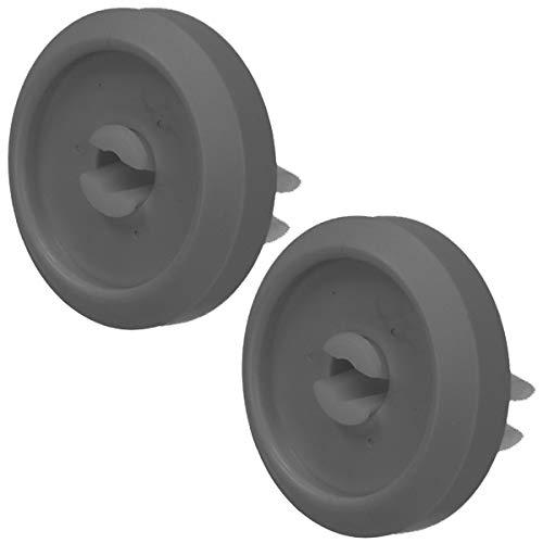 Spares2go - Rueda de cesta inferior compatible con Miele G1000, G2000, G200, G400, G600, G800, G900 Series Lavavajillas (34 mm, 2 unidades)