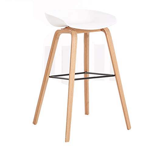 Bar Stool And Cashier High Chair For Home Use Creative Bar Chair Modern And Simple Modern Minimalist Bar Chair Solid Wood Bar Chair With Back (Color : F, Size : 85 * 44 * 43cm)