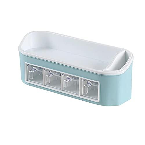 ZCAYIN Las Cocinas Y Los Baños Pueden Usar Estantes De Cajas Especias Resistentes A La Corrosión para Contenedores Almacenamiento Domésticos Evitar Humedad,Azul