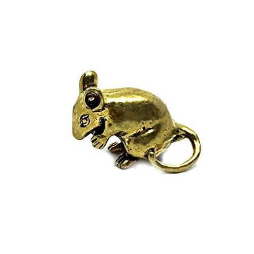 Mini-Figur, Miniatur-Maus, aus Messing, Dekoration für Zuhause, Sammlen, Souvenir, Geschenk, Zubehör, 1 Stück