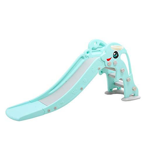 FZTX-LPX Im Innen- und Außenbereich verlängerte, verdickte Plastikrutschen für Kinder, Heimspielplatzrutschen, Faltbare Rutschen,um EIN Überschlagen zu verhindern,Blau