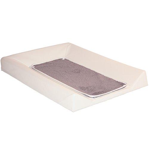 BabyCalin luxe wikkelonderlegger, ecru + handdoek, taupe