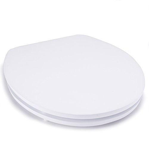 MSV Premium WC Sitz Toilettendeckel Klodeckel Acryl Scharniere aus Edelstahl - hochwertige und stabile Qualität - Weiß