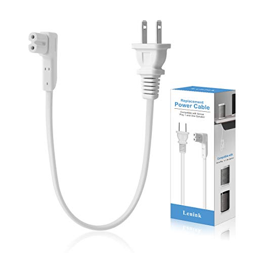Lenink Power Cable Replacement Cord Compatible with Sonos Play 1 and One Speaker Accessories (1.15ft/0.35m, White)