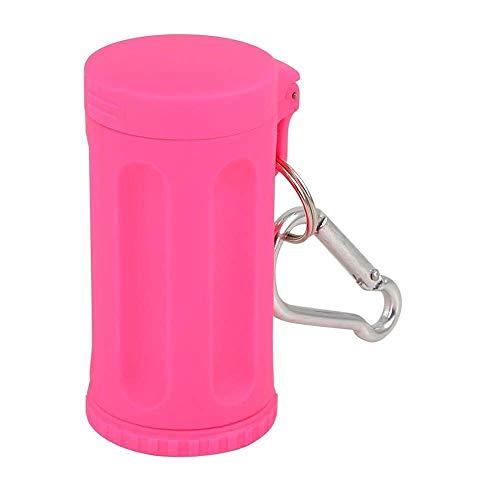 JIAJBG Cenicero portátil para coche, sin humo, resistente al viento, con tapa de llavero, soporte universal para cilindros de cigarrillos, adornos para coche, color rosa