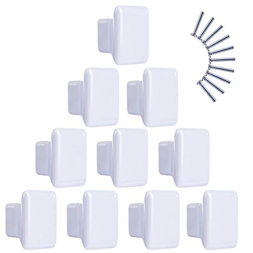 M/öbelkn/öpfe Kinderzimmer Set Yavso 10er Set Quadrat Keramik Schrankkn/öpfe Kinderzimmer Kinder M/öbelknopf Keramikknauf