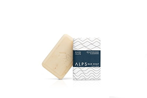 Oars + Alps Bar Soap, Natural Skin Care, Hydrates with Shea Butter and Jojoba Oil, Vegan and Gluten Free