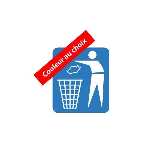 Stickers voor afvalscheiding en afvalscheiding, zelfklevend, grootte: 12 cm, kleur: roze
