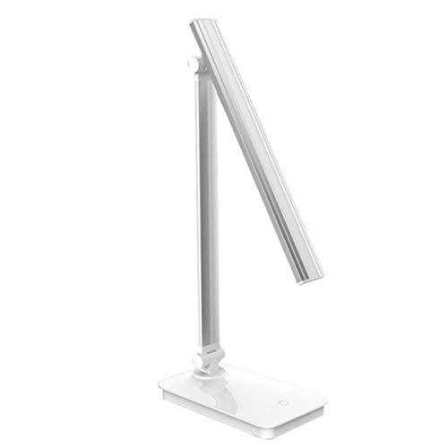 KAMAW Schreibtischleuchte, LED-Tischleuchte mit einstellbaren Helligkeitsmodi, energieeffizient und augenschonend, empfindliche Berührungssteuerung, Wärme- / Kälte-Helligkeit, tragbar und kompakt zum