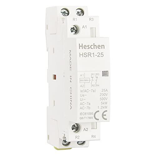 Heschen Contactor de CA doméstico HSR1-25 2 polos Dos...