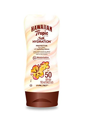 Hawaiian Tropic Silk Hydration Protective Sun Lotion Sonnencreme LSF 50, 180 ml, 1 St