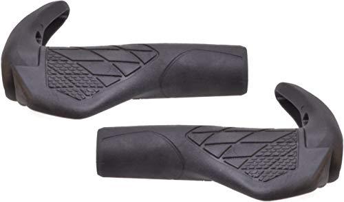 P4B   Fahrrad Schraubgriffe mit Bar Ends - 143/143 mm   Ergonomisch geformt   Barends   Fahrradgriffe in Schwarz