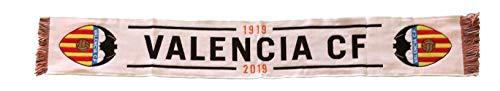 Valencia CF Bufanda 1919, Blanco (Blanca Blanca), One Size (Tamaño del fabricante:Talla Unica) Unisex Adulto