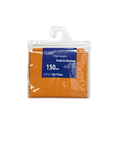I LIKE® Funda DE Almohada Naranja 100% ALGODÓN Cama 150 (45 X 170 cm)