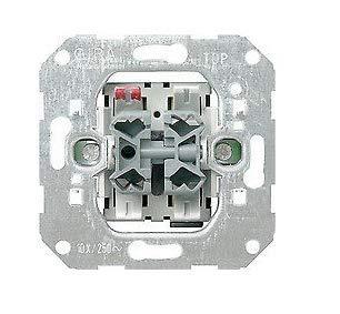 GIRA System 55 Standard E2, Reinweiß glänzend, Steckdose Schalter Rahmen Wippe (015900 Wipp-Jalousieschalter, 1 Stück)