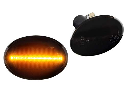 DoLED LED Seitenblinker Blinker getönt Schwarz/Rauchglas kompatibel für BMW Mini Clubman Clubvan R55 Mini R56 Cabriolet R57 Coupe R58 Roadster R59