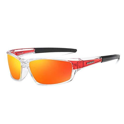 Snow Island Dubery Sonnenbrille, polarisiert, Driver-Design, UV 400, Retro-Sonnenbrille 620, Schwarz, B