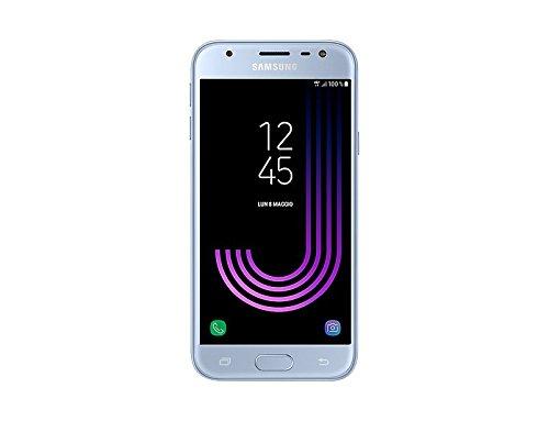 Samsung Galaxy J3 (2017) Smartphone, Blue Silver, Processore Quad Core 1,4 GHz, 16 GB Espandibili [Versione Italiana]