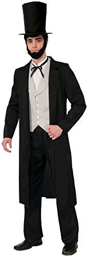Forum Novelties Herren Abraham Lincoln XL Deluxe Costume Kostüme für Erwachsene, schwarz, Standard