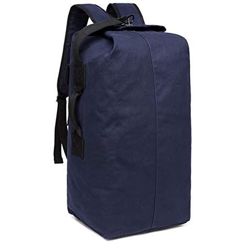 """DRF Zaino porta laptop 14"""" borsa per pc portatili in Tela e pelle per Scuola Viaggio SKU:BG-39 (Cachi(Nero))"""