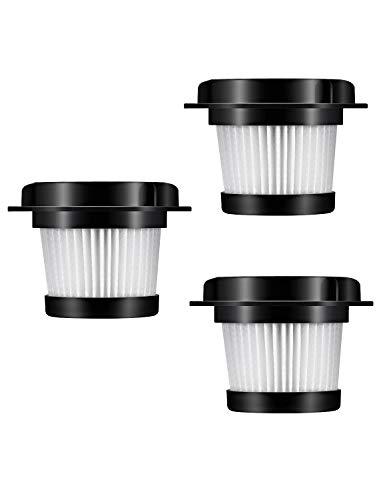 Holife Aspiradora de Repuesto de 3 Filtros HEPA, Compatible Aspiradora de Mano HM036E, Lavable y Reutilizable