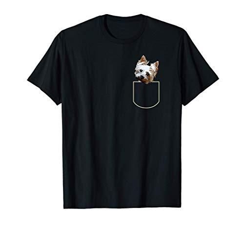 Yorkie En El Bolsillo Cachorro De Yorkshire Terrier Pocket Camiseta