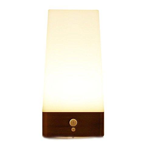 ZEEFO Nachtlicht Kinder LED Tischleuchte/LED-Tischlampe mit kabellosem PIR Bewegungs Licht Sensor Nachtlicht, Schlafzimmer Flur Badezimmer Küche Kleiderschrank Licht für Kinderzimmer (Quadrat)