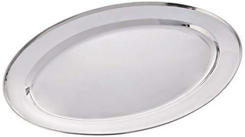 IBILI 710040 Plat Ovale, INOX, Argent, 40 cm