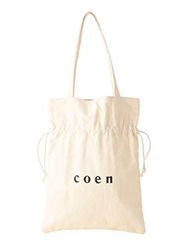 (コーエン) COEN 【WEB限定】coenロゴトート巾着バッグ 76816080071 0300 OFF WHITE(03) FREE