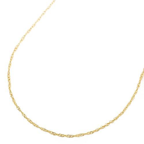 純金 ネックレス スクリュー チェーン 50cm 1.5g K24