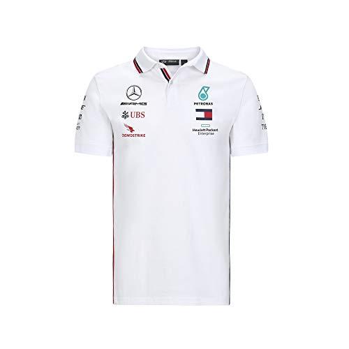 Fuel For Fans Formula 1 Herren-Poloshirt, Scuderia Ferrari, Rot, Größe XS, Herren, Mercedes-AMG Petronas F1 - Team Polo 2020, Weiß, X-Large