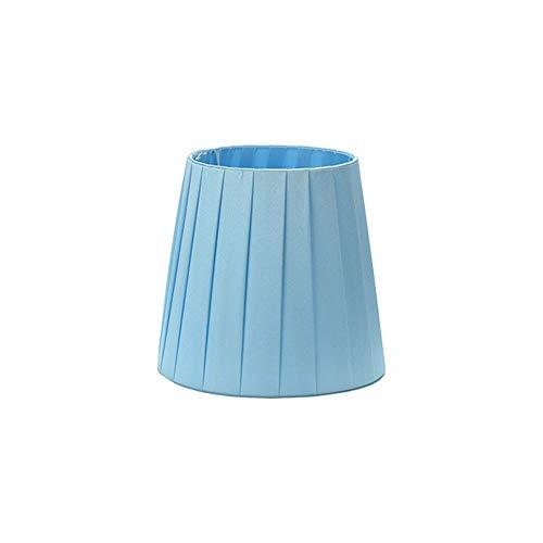 DULEE 5,5Pulgadas Clip On/E14Tornillo Pantallas de lámpara para Vela, Araña de Cristal lámpara de Pared Droplight pequeñas Pantallas de lámpara, Azul, Clip on:Top:10cm x Height:13cm x Bottom:14cm