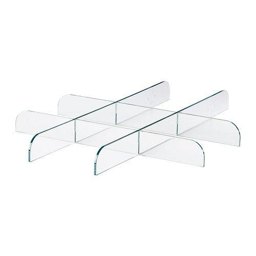 IKEA KOMPLEMENT, Raumteiler, aus Pu-Leder, transparent, 50 x 58 cm
