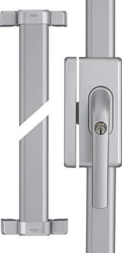 ABUS Fenster-Zusatzsicherung FOS650 AL0125 - Stangenschloss mit Druckzylinder, gleichschließend - ABUS-Sicherheitslevel 10 - 73017 - Silber