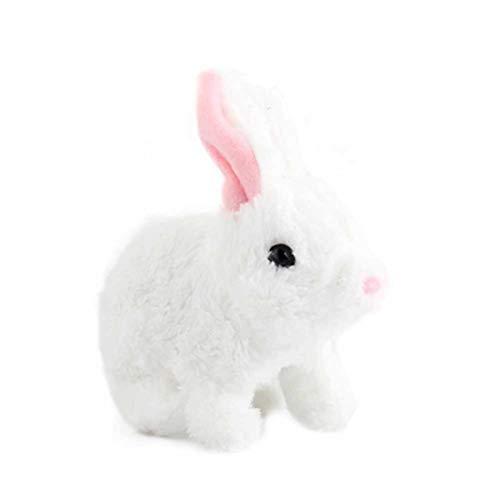 Beesuya Elektronisches Interaktives Spielzeug Plüsch Hase Batteriebetrieben Spaß Hopfendes Kaninchen Springen Simulations Aktion Tier Roboter Spielzeug Für Kinder Junge Mädchen Kind Spiel polite