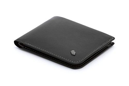 Bellroy Hide & Seek Slim Leder Geldbörse RFID Editions erhältlich (max. 12 Karten und Bargeld) - Schwarz - RFID