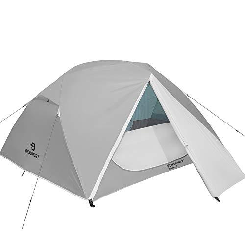 Bessport Camping Zelt 3 Personen Ultraleichte Zelt Wasserdicht 3-4 Saison Zwei Türen Sofortiges Aufstellen für Trekking, Outdoor, Festival, Camping, Rucksack, mit kleinem Packmaß