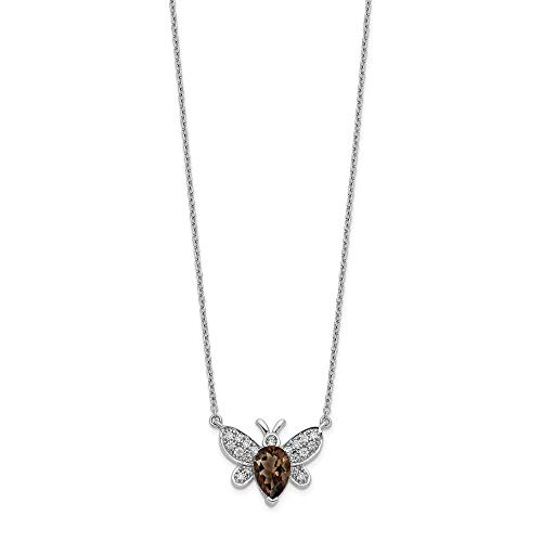 14k White Gold Diamond Gemstone Bee Chain Necklace Pendant Charm Animal Insect Fine Jewellery For Women Gifts For Her