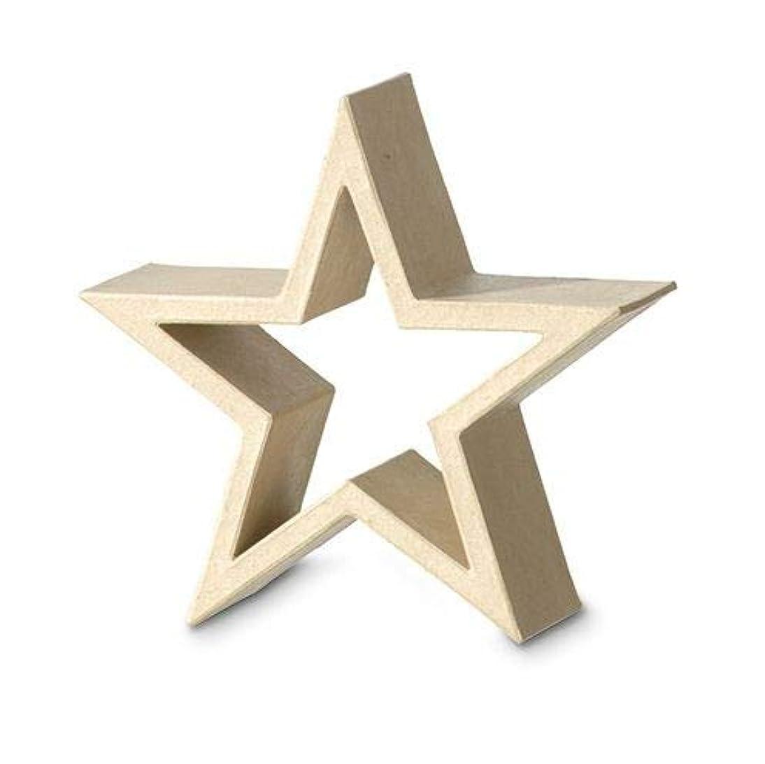 Efco Star Frame Standing 21 x 21 x 7 cm, Papier-Maché Brown