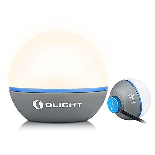 OLIGHT Obulb Led Nachtlicht, Wiederaufladbare Atmosphäre Nachttischlampe mit 55 Lumen, Farbwechsel & Dimmbare Beleuchtung, bis zu 56 Stunden Tischlampe zum Lesen,Schlafen und Dekoration