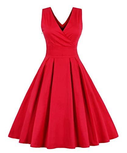 VERNASSA 1950s Abiti da Donna, 50s Vestito da Swing dell'Abito di Sera di Promenade del Cotone del...