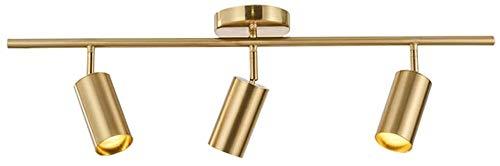 Hobaca GU10 3 luci Moderno Oro LED Faretti da soffitto Riflettore Downlight Montaggio a filo della superficie Plafoniera per Cucina Sala da pranzo Riflettore Picture Light Soggiorno Visualizza la luce