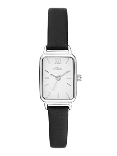 s.Oliver Damen Analog Quarz Uhr mit Leder Armband SO-3819-LQ